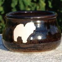 Chow Chow keramik vandskål