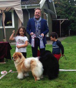Chow Chow Barn og Hund konkurrence